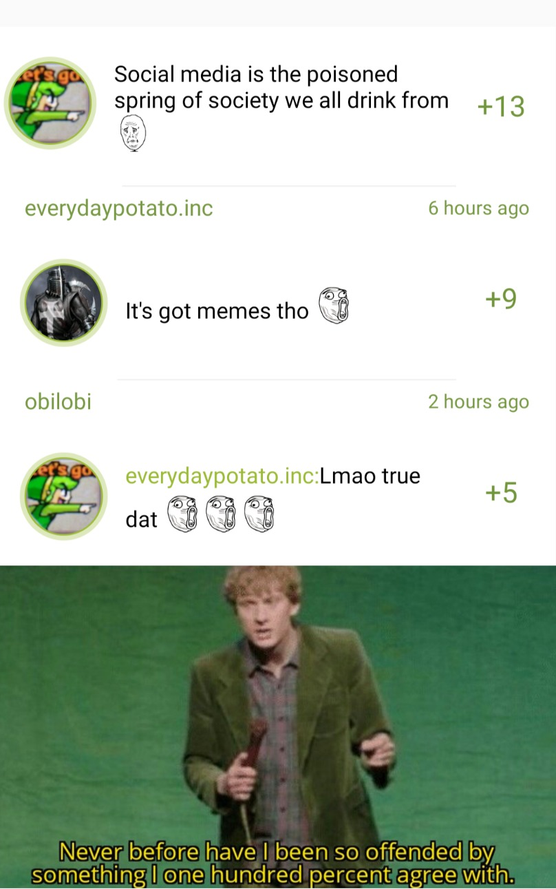 Comment section in Sondulo's meme