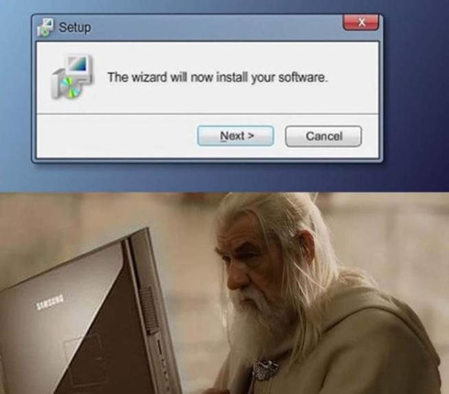 Install Wizard - meme