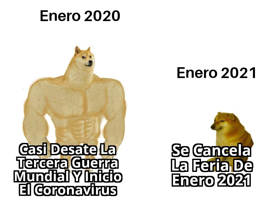 Meme: ¿Que Será Peor Enero 20' o Enero 21'?
