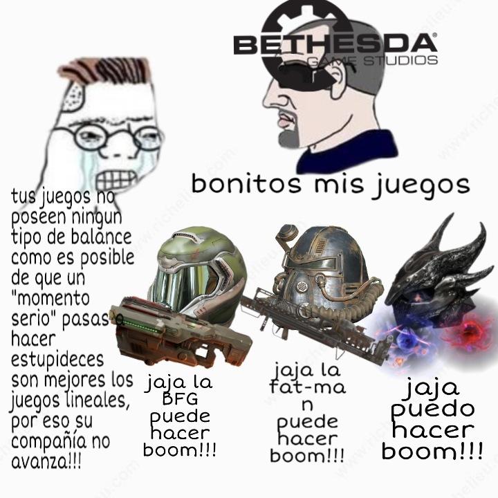 Jajaja en todos los juegos puedes hacer boom!!! - meme