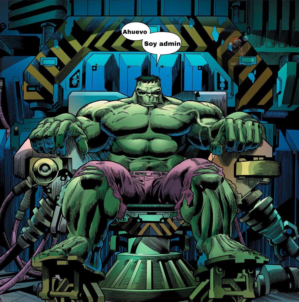 Hulk está mamado porque no es admin de un Discord raro - meme