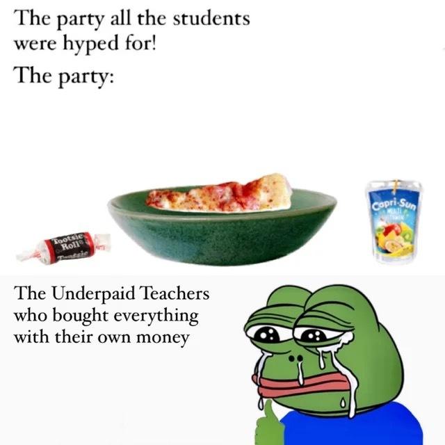 Teachers > Healthcare workers - meme