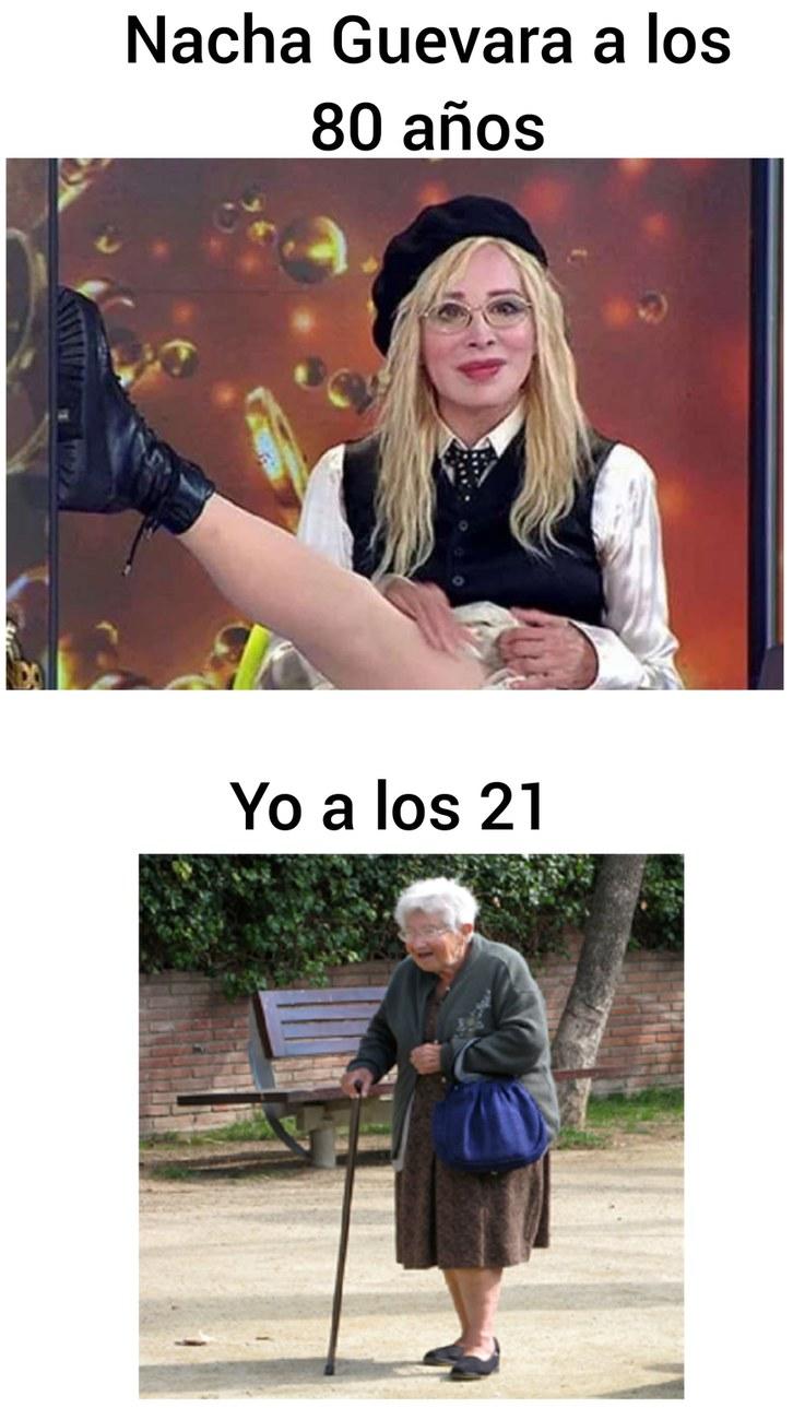 Contexto: es una actriz Argentina y en serio tiene 80 años. - meme
