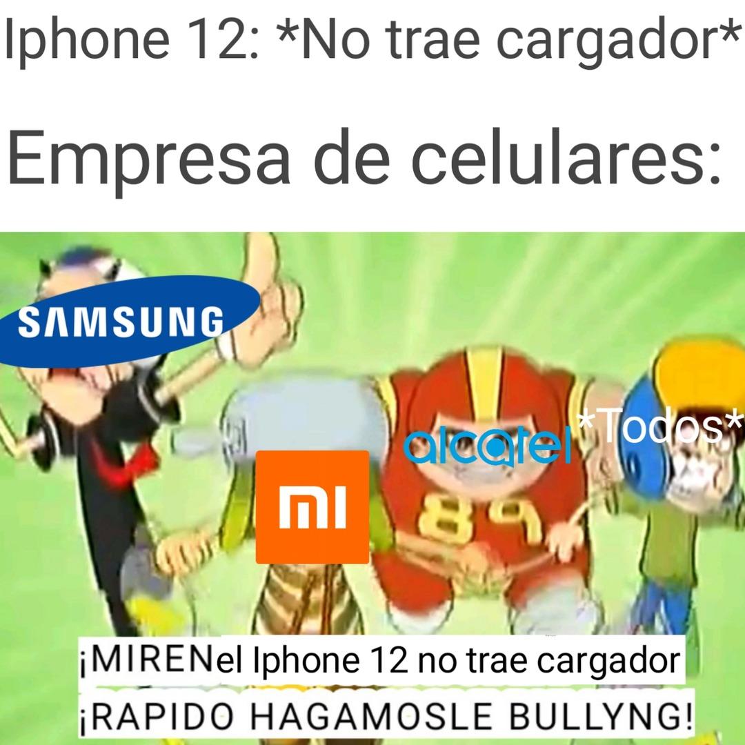 Apuesto qué el nuevo Iphone no traerá cargador ni audífonos - meme