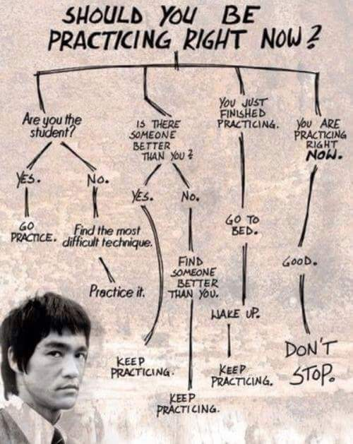 Should you be practicing? - meme
