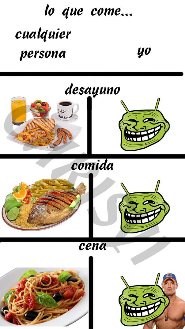 MI DESAYUNO, COMIDA Y CENA alv :v - meme