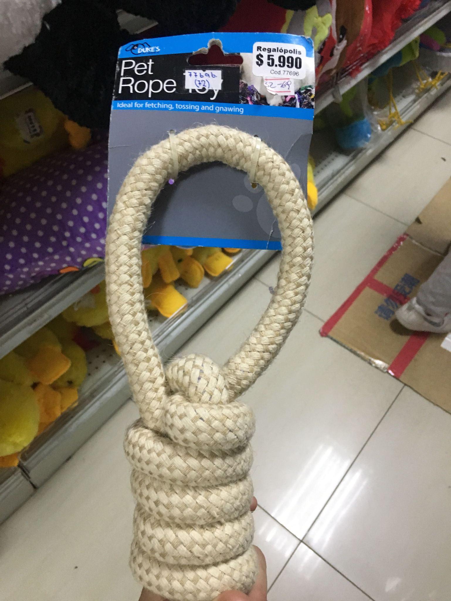 cuerda de juguete para perros - meme