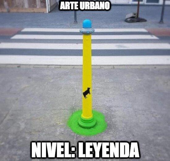 Increible Arte urbano. - meme