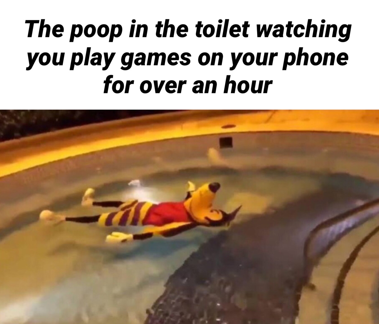 I'm bouta take 3 seconds pooping now - meme