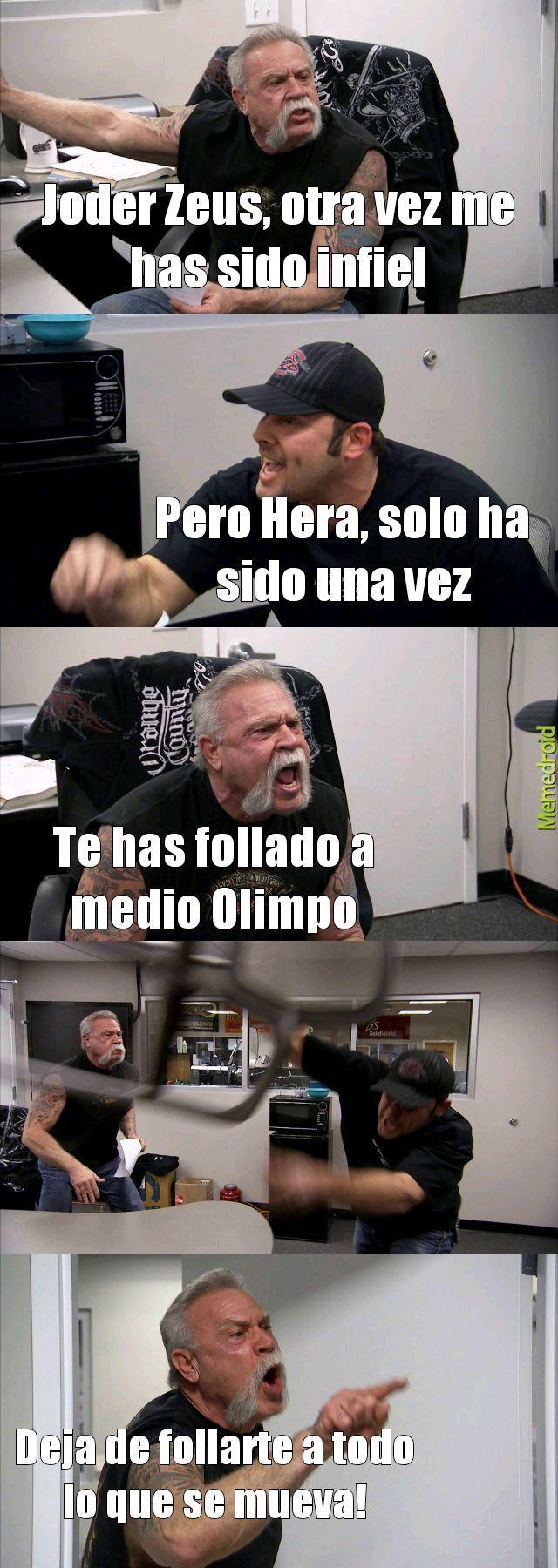 El bueno de Zeus - meme