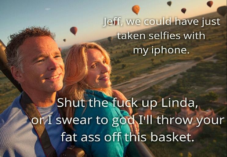 Just enjoy the trip lady - meme