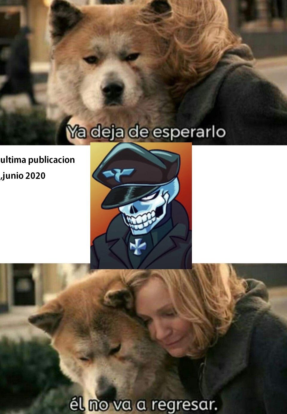 NUESTRO HEROE NO VOLVERA - meme