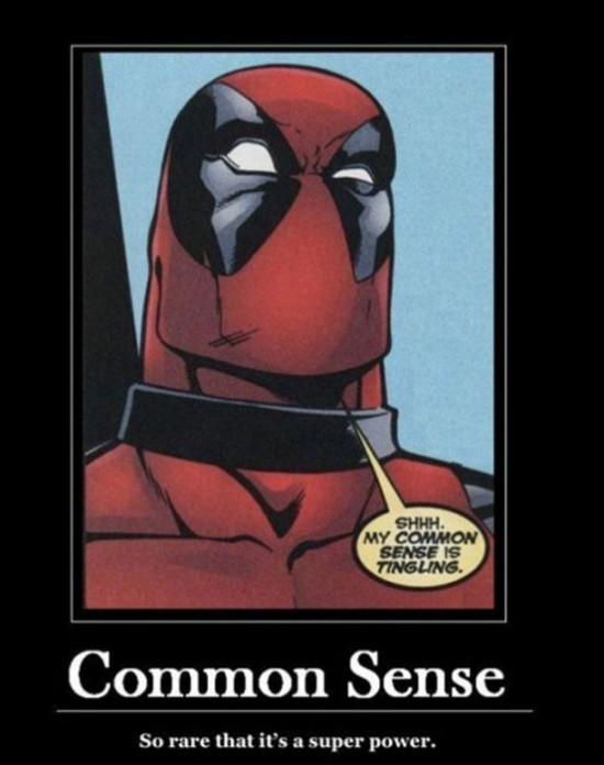 Common sense the ultimate super power. But what to name the hero? - meme