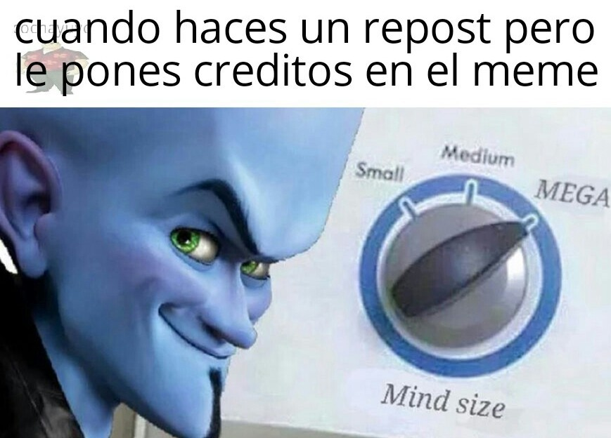 Repost creditos en el meme troleador cara