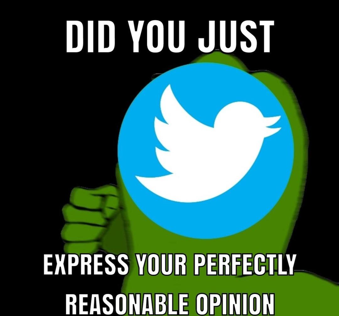 twitter is a cult - meme