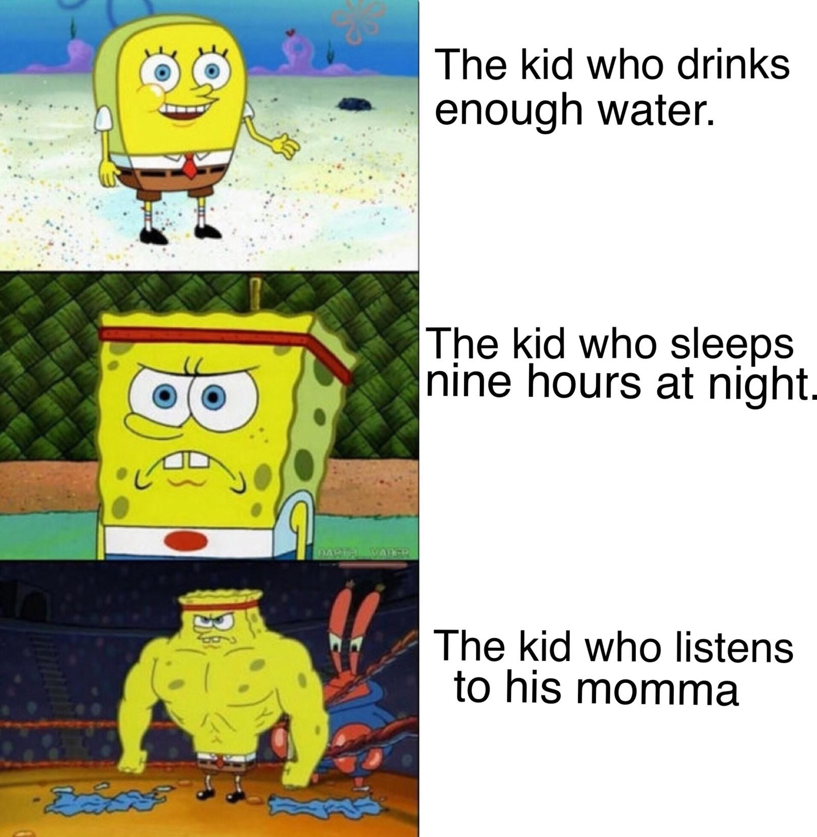A pretty shitty meme, just like most Spongebob memes anyway.