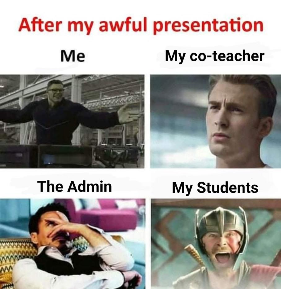 Teaching on meets - meme