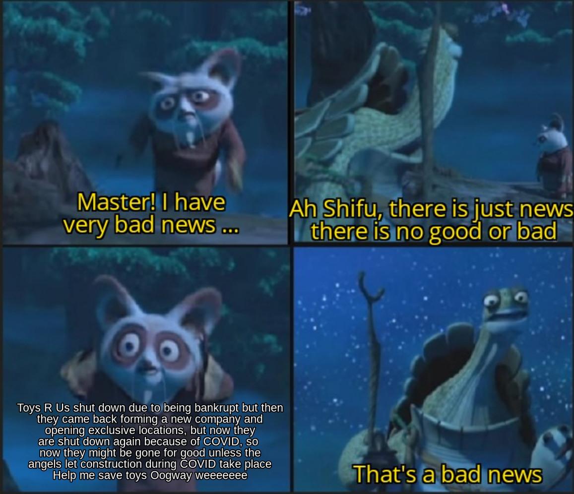 Shifu is upset as a child - meme