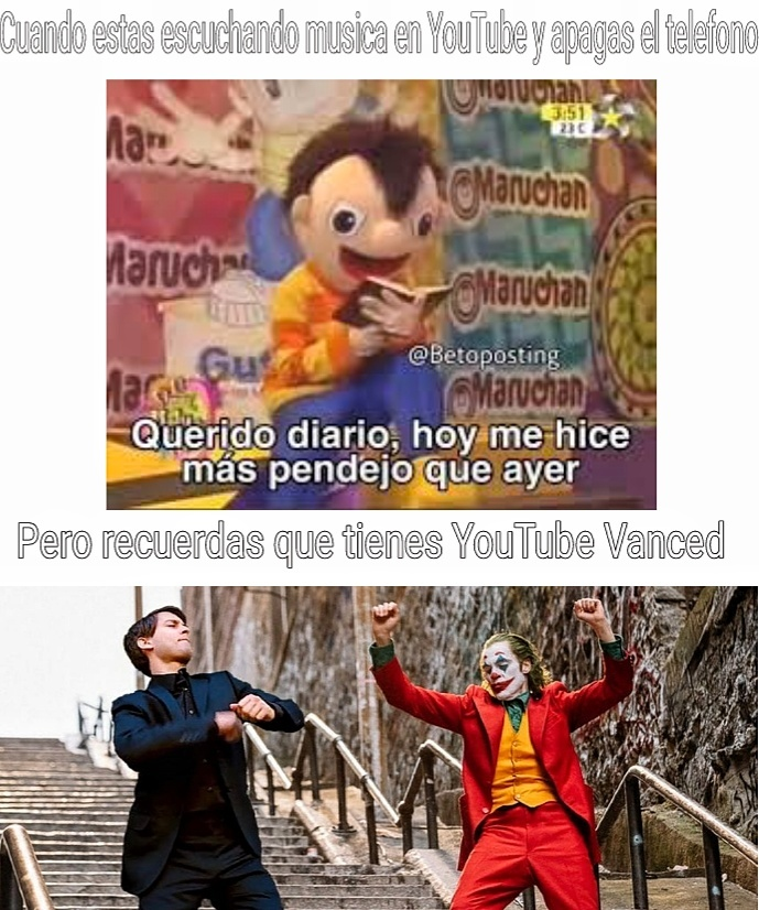 YouTube Vanced un YouTube Premium sin pagar - meme