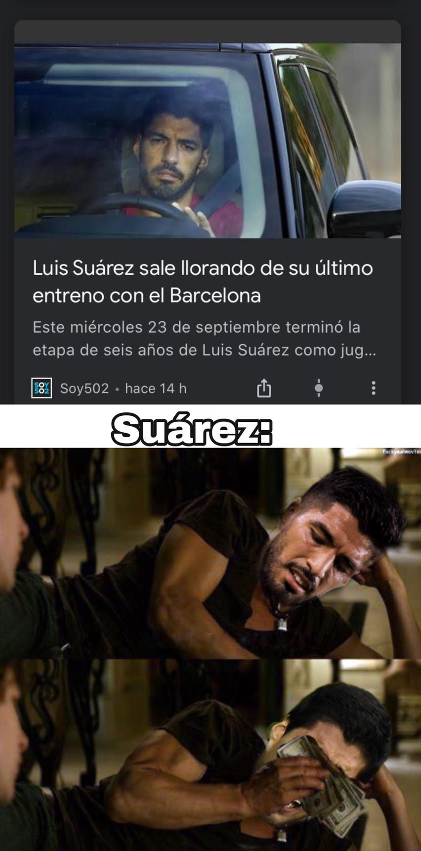 ¿Alguien vió el video de Suárez mordelón? jaja - meme