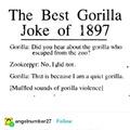 Gorilla joke of 1897