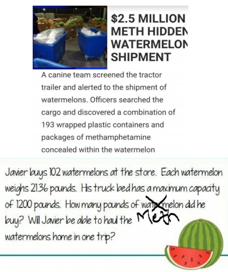 The real reason for the watermelons - meme