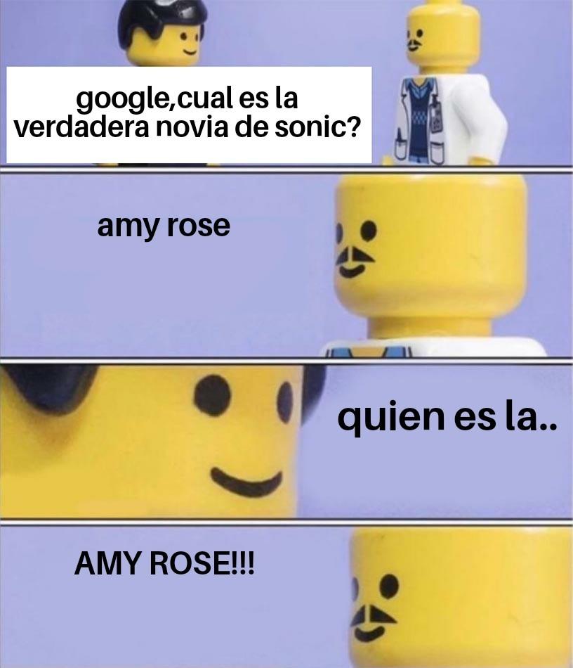 Pd:la verdadera novia de sonic es sally acorn y no amy rose - meme