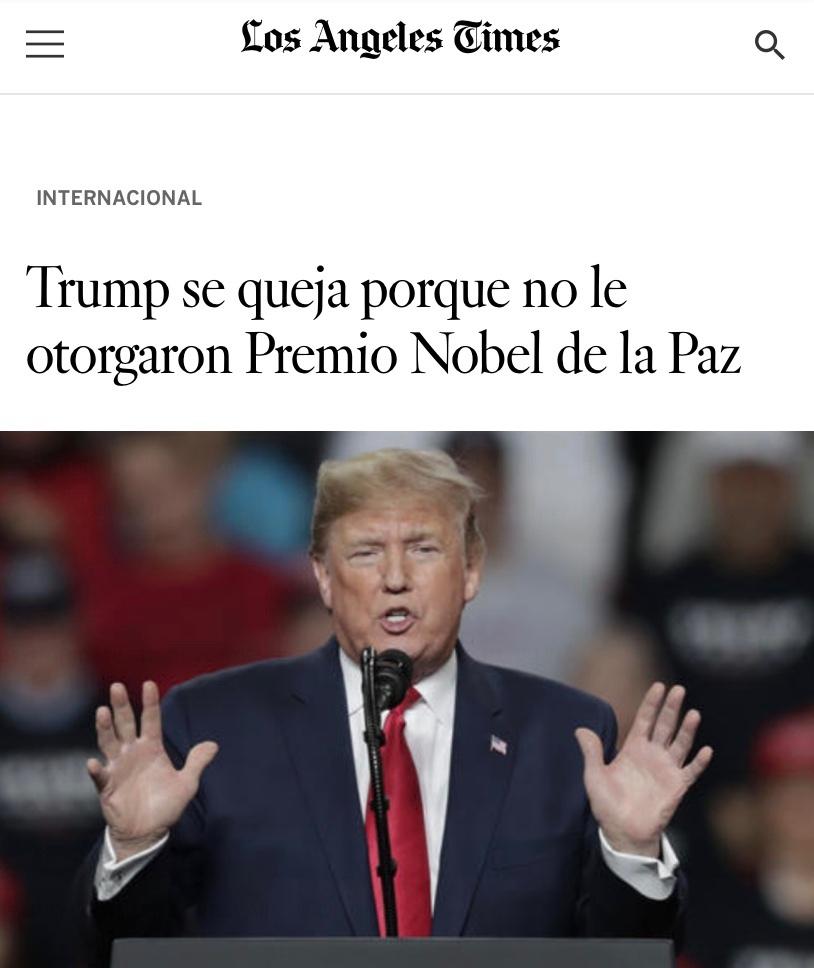 el tío Donald quería su premio Nobel  - meme