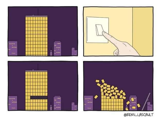 Não apague a luz - meme