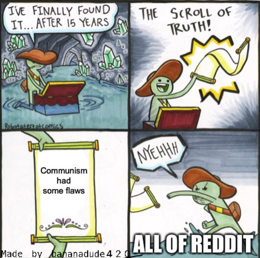 Fake scroll - meme