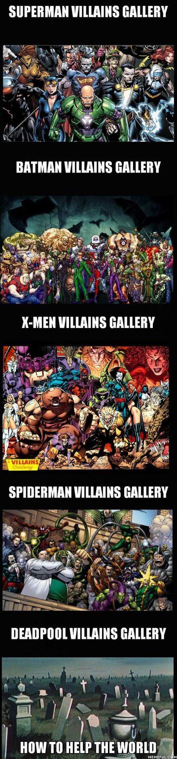 Never spare your villains - meme