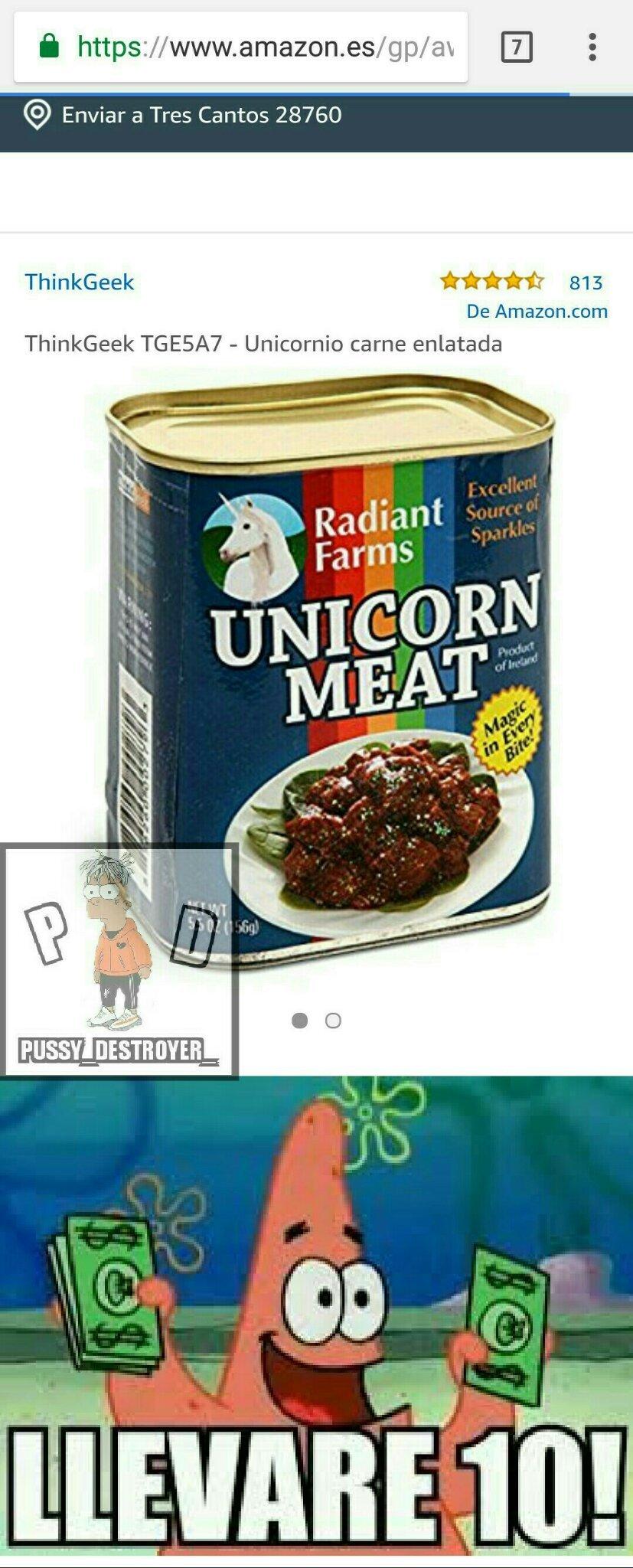Unicornio - meme
