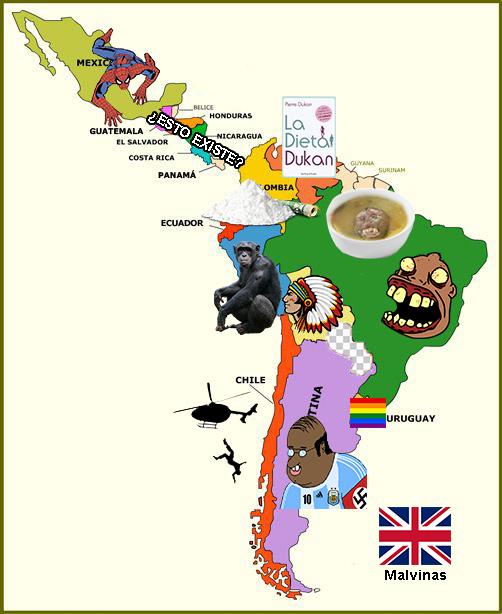 mapa de sudakalandia - meme