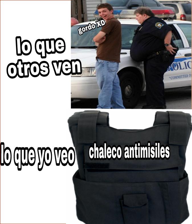 Policía gordo - meme