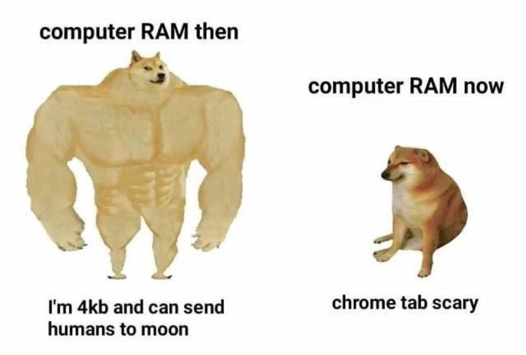 Chrome bad - meme