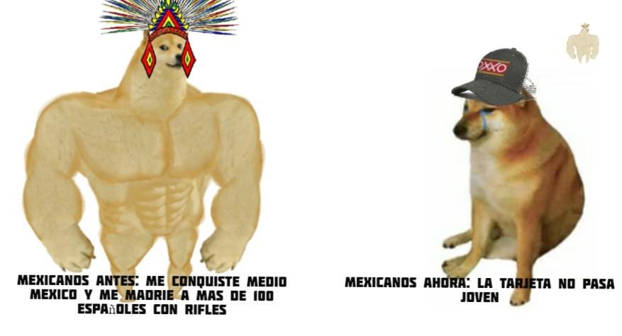 Mexicanos Antes y Ahora - meme