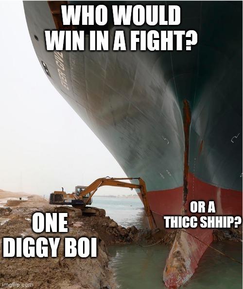 My money is on the SHHIP - meme