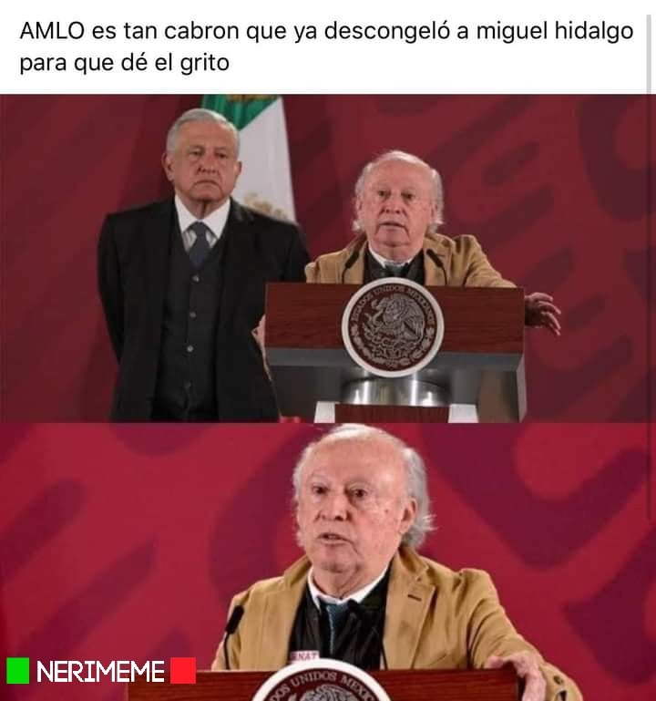AMLO Descongelo A Miguel Hidalgo - meme
