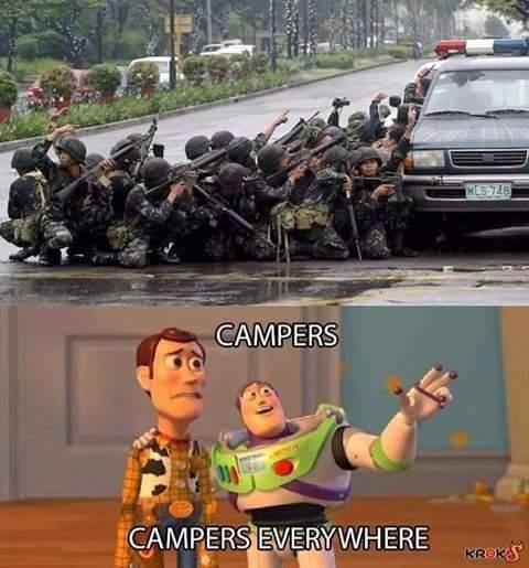 Fucking campers - meme