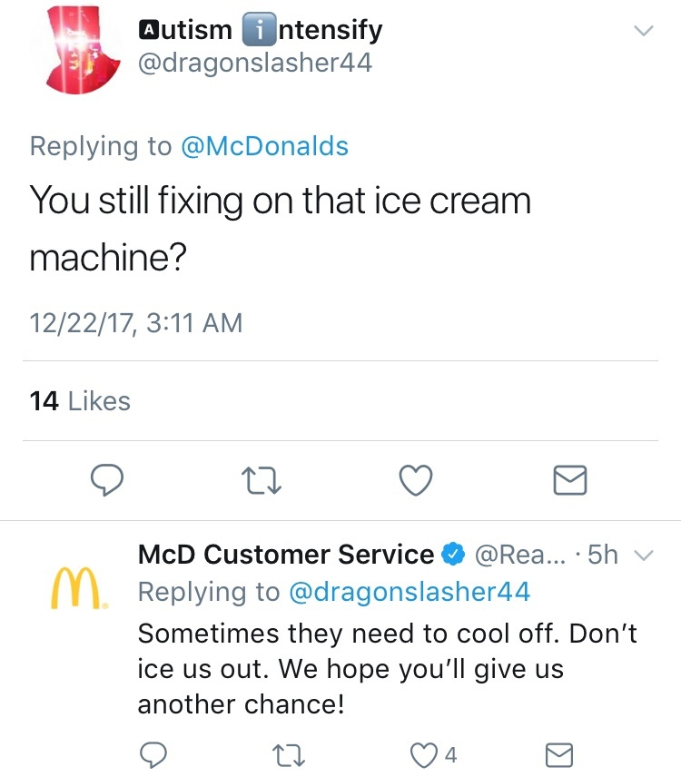 McDonalds trying to be sassy - meme