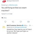 McDonalds trying to be sassy