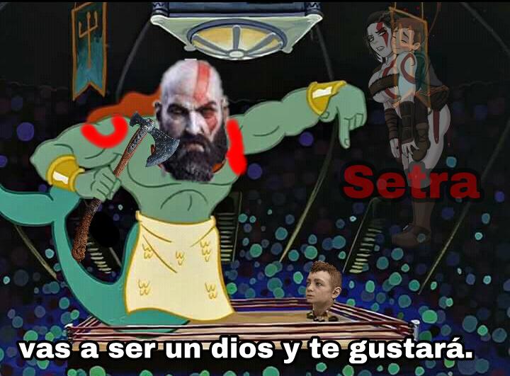 No se donde van las cocatrices de kratos xd - meme