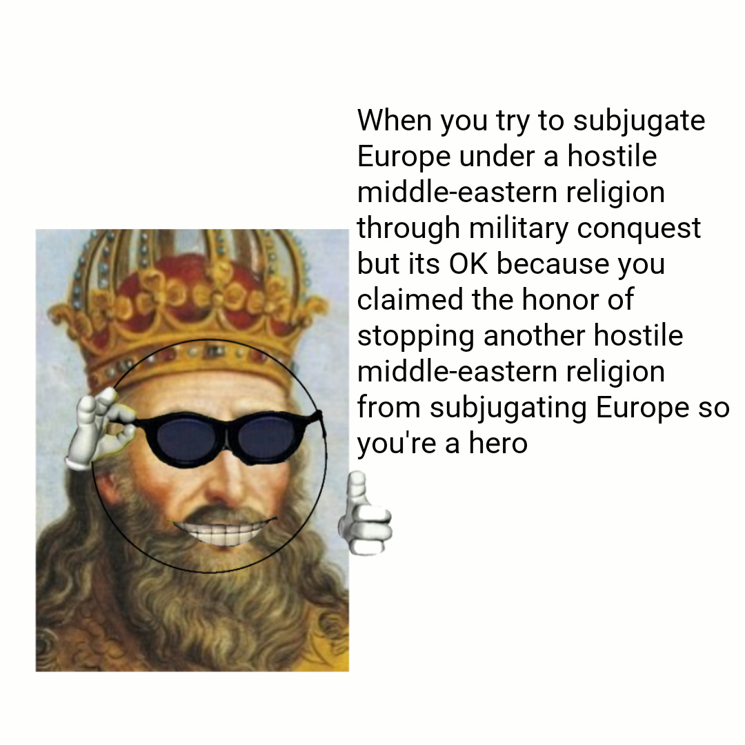 Pic is Charlemagne - meme