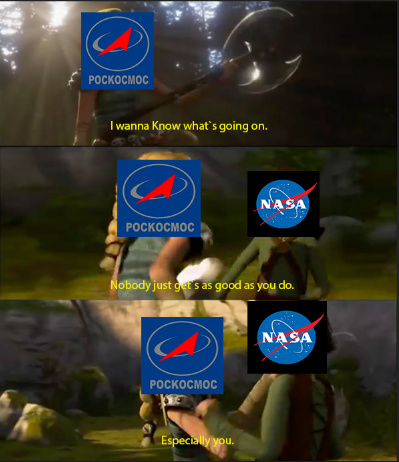 Pockocmoc is the Russian space program - meme