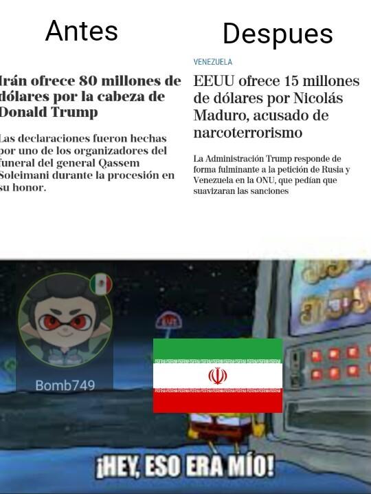 Iran odiara esa noticia - meme