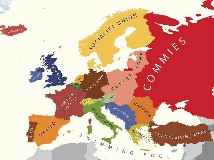 Ahora en Europa - meme