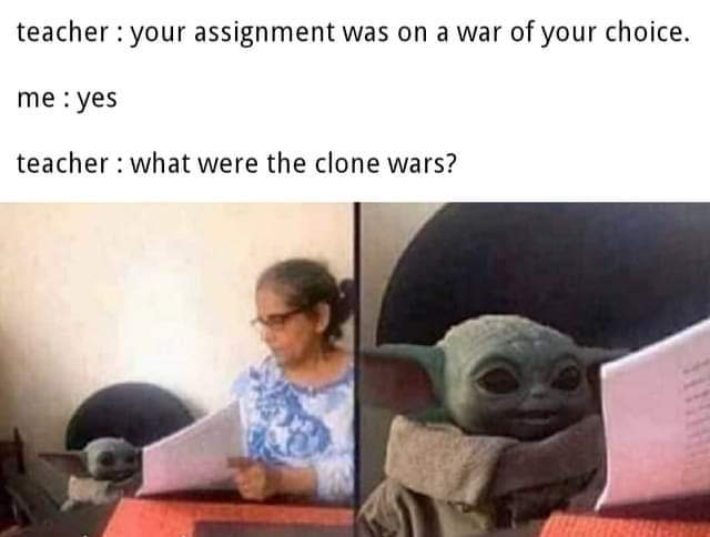 Clone Wars - meme