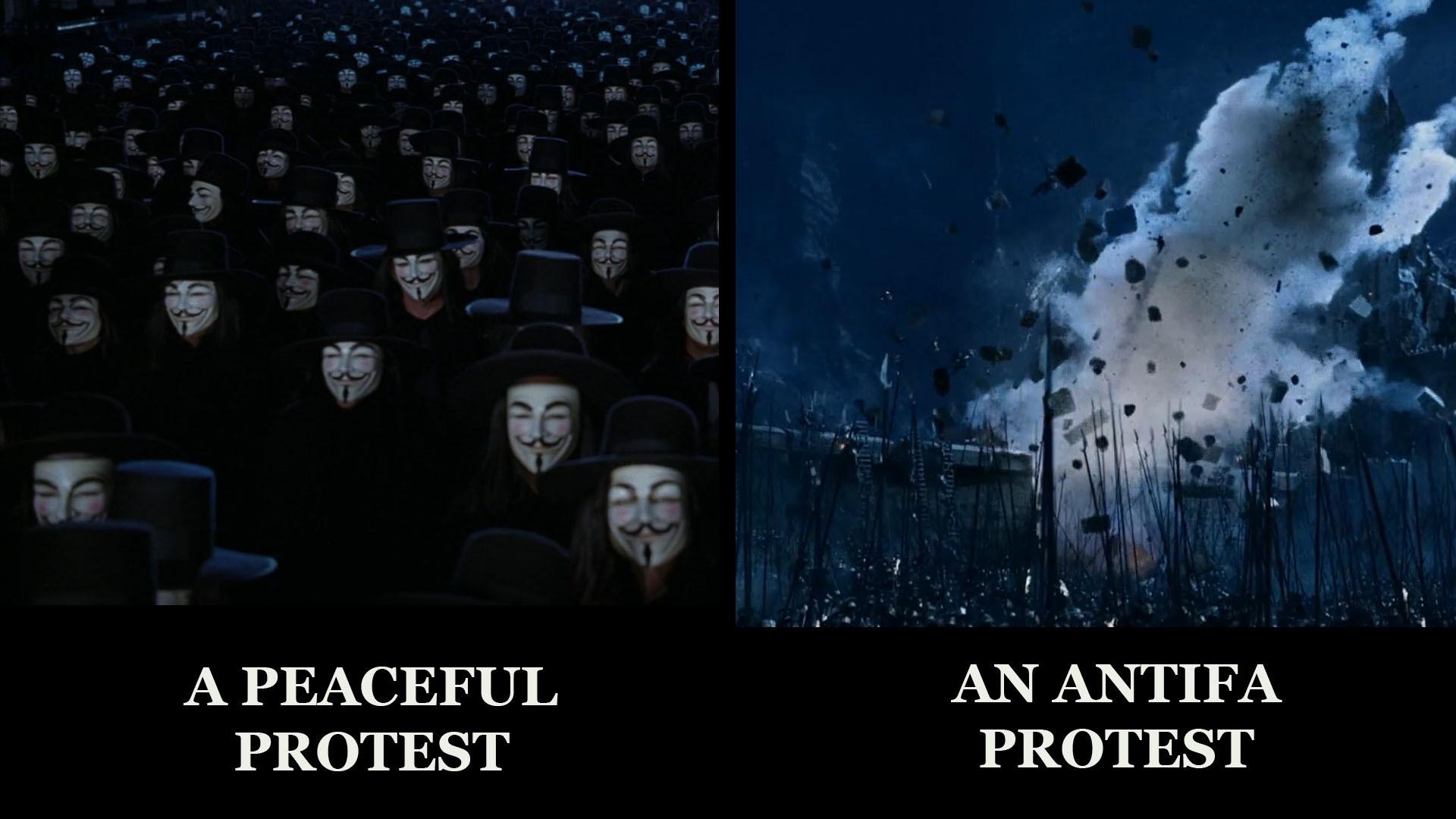 Peaceful Protests - meme