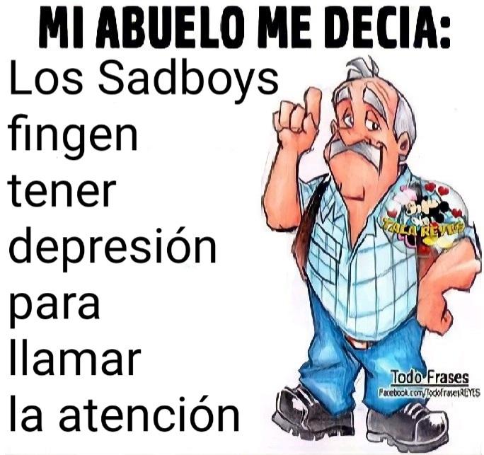 Sadboys solo lo fingen - meme