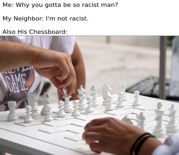 omg racist - meme